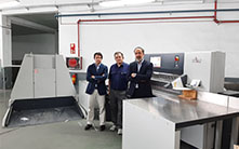 Trade binder in Spain, Encuadernación Huertas, recently invested in a Polar CuttingSystem 120